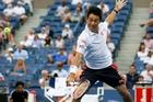 Kei Nishikori is the first Japanese to make a semi since 1918. Photo / AP