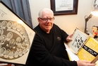 Devoted All Blacks and Magpies fan Dave Turnbull with some of his rugby memorabilia. PHOTO/FILE