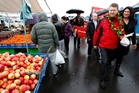 David Cunliffe got a warm reception from supporters at the Avondale market yesterday. Photo / Jason Oxenham