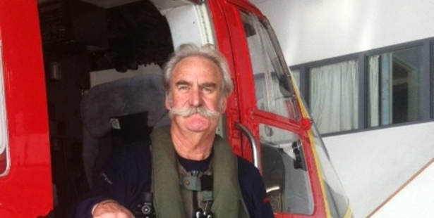 Loading Rescue helicopter crewman Greg Brownson is also a world leader in helicopter winching protocols.