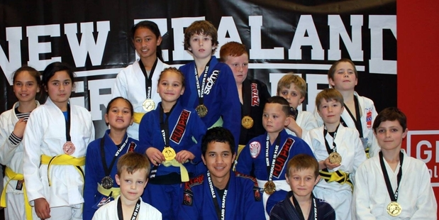 Kids from Allegiance Brazilian Jiu Jitsu Academy, which teaches classes in Hastings and Haumoana. PHOTO/SUPPLIED
