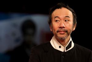 Director Shinya Tsukamoto arrives for the screening of Nobi (Fires on the Plain) at Venice Film Festival. Photo/AP