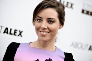 Aubrey Plaza, one of the celebrities allegedly targeted in a hacking case. Photo/AP
