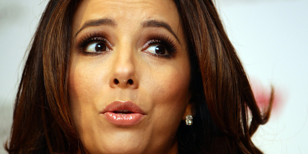 Eva Longoria says an Apple staff member accessed her personal information. Photo/Doug Sherring