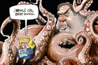 Whale Oil, Judith Collins & Hager's book. Rod Emmerson 16/08/14