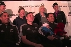 The All Blacks are in Napier ahead of their IRC test match against the Pumas. Hear from some of the fans who braved the weather to meet them at the Air New Zealand Sky Couch photo opportunity.