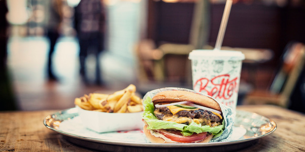 Get your Better Burger this eve and pay with a donation to charity.  Photo / File