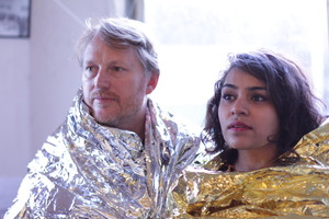 Auckland actors Nisha Madhan and Stephen Bain; in What Have You Done to Me? ; for arts