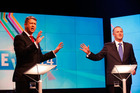 Prime Minister John Key (right) and Labour leader David Cunliffe (L) during the TVNZ leader's debate last month.