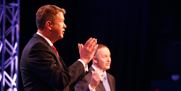 Prime Minister John Key and Labour Leader David Cunliffe. Photo / Getty Images
