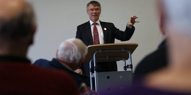 Debuty Labour Leader, David Parker, speaking at the Papamoa Community Centre. Photo/John Borren
