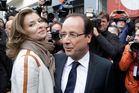 Francois Hollande and Valerie Trierweiler. Photo / AP