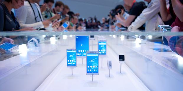 Electronics company Sony presents new products during the first press day of the Consumer electronics trade fair IFA in Berlin. Photo / AP