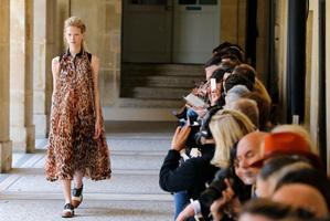 Bouchra Jarrar's fall-winter 2014-2015 Haute Couture fashion collection featured flat shoes. Photo / AP