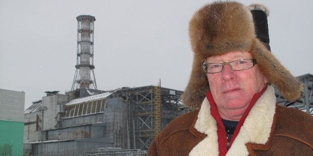 Kevin Milne, the host of Fair Go, seen here in Chernobyl.
