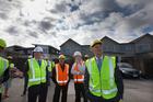 Prime Minister John Key during his visit to Hobsonville Point housing development. Photo / New Zealand Herald / Brett Phibbs