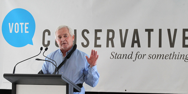 Napier Conservative Party candidate, Garth McVicar. Photo / Duncan Brown