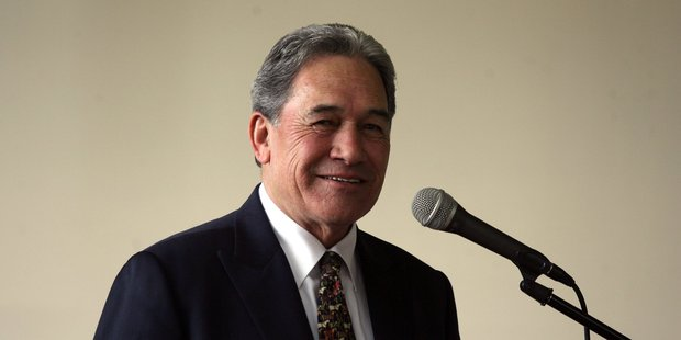 Winston Peters likes to hold his campaign meetings the old fashioned way - on the street, soapbox style. Photo / APN