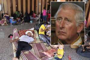 Prince Charles has condemned the situation of Christians in Iraq - seen here in a displaced persons camp in Kalak, Iraq. Photo / AP