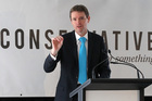 Colin Craig at a campaign launch last month. Photo / Duncan Brown