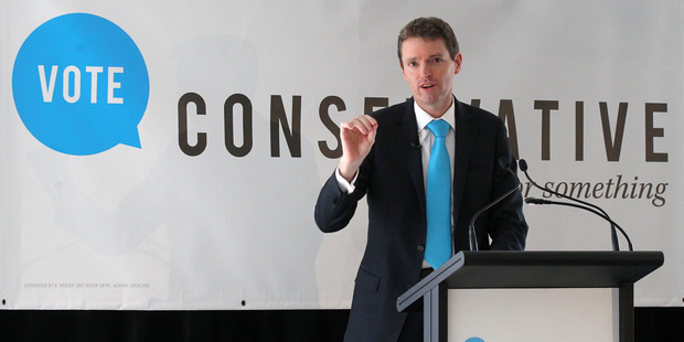 "Colin Craig at a campaign launch last month. He told a debate organised by Amnesty International last night that New Zealand should be a ""safe pair of hands"" on the world stage. Photo / Duncan Brown"