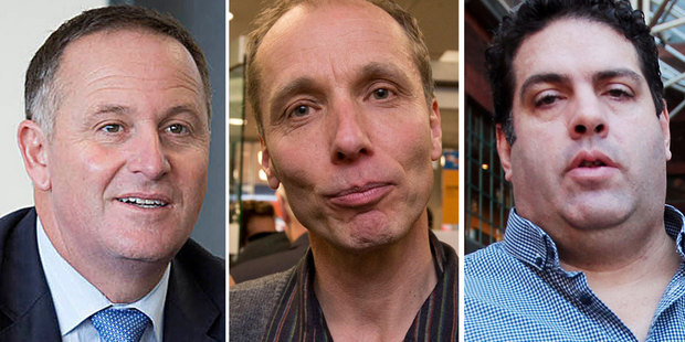 Prime Minister John Key, investigative journalist Nicky Hager and blogger Cameron Slater. Photos / NZ Herald