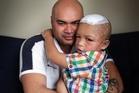 Orlando Shepard and his son. Photo / Doug Sherring