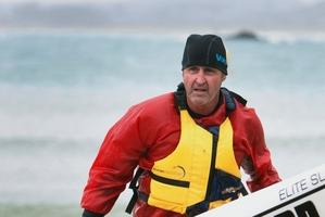 Australia's Dean Gardiner won the surf ski section.PHOTOS/JOHN STONE