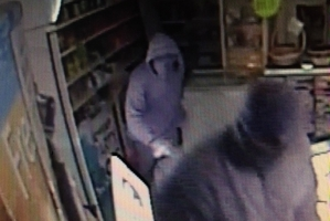 Two of the men who police believe burgled the Lantern Light Dairy last month. PHOTO/SUPPLIED