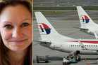 Danica Weeks, the widow of a MH370 victim, says the promotion by the airline was atrocious. Photo / AP, supplied