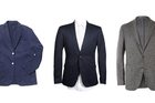 BEST DECONSTRUCTED BLAZERS: Gubb & Mackie jacket $595 gubbandmackie.com, Barkers jacket $249.99 barkersonline.co.nz, Boglioli flecked  wool blazer, about $1078, from MrPorter.com.