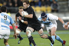 All Blacks captain Richie McCaw on attack against Argentina in Wellington last season. Photo / Mark Mitchell