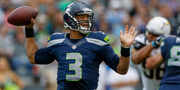 Seattle quarterback Russell Wilson will be looking to lead the Seahawks back to the Super Bowl. Photo / Getty