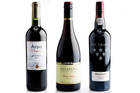 Aydie l'Origine Madiran, France 2012, Rockburn Central Otago Pinot Noir 2012 and Grahams Six Grapes Reserve Port NV. Picture / Babiche Martens