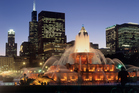 Buckingham Fountain in Chicago's Grant Park. America's historic Route 66 begins at the park, in front of the Art Institute of Chicago. Photo / Thinkstock