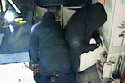 Two burglars attempted to smash open the cigarette case at Bay View Mobil.