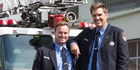 Fire Department New York firefighters, (from left) John Mills, 35, and Christopher Barber. Photo / Brett Phibbs