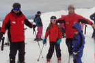 The Dann kids get a skiing lesson on Mt Ruapehu. Photo / Liam Dann