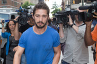 Actor Shia LaBeouf has plead guilty to disorderly conduct. Photo / AP