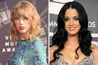 Singers Taylor Swift and Katy Perry. Photo / Getty Images