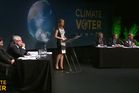 Climate Voter is a campaign by six NGOs to put climate change on the agenda this election. Photo / Greenpeace NZ