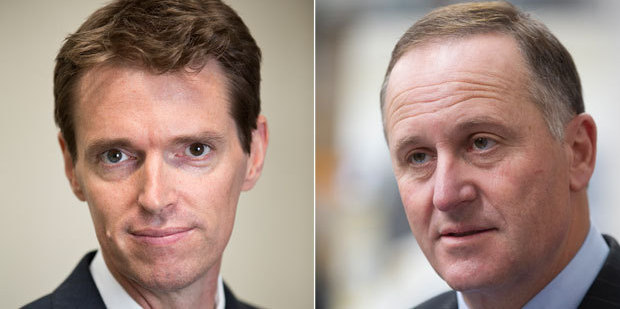 Conservative party leader Colin Craig and Prime Minister John Key. Photo / Greg Bowker, Brett Phibbs