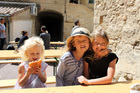 Francesca, Isabella and Madeleine Wright. The Wright family lived in the South of France for a year.
