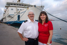 ON A MISSION: Tauranga's John and Sue Clynes are now on their way to Madagascar to avoid the ebola epidemic. PHOTO/DEBRA BELL MERCY SHIPS