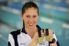 Kendall Reidy, of Waipukurau, won two breaststroke gold medals at the nationals early this month. Photo / Duncan Brown