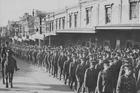 Mobilisation 100 years ago, Queen St, Auckland. Photo / Auckland War Memorial Museum-Tamaki Paenga Hira