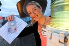 Sarah Crosby and a friend found $100 at the Whangarei marina. Photo / John Stone