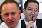 John Key and Glenn Greenwald are refuting each other's claims. Photo / NZ Herald