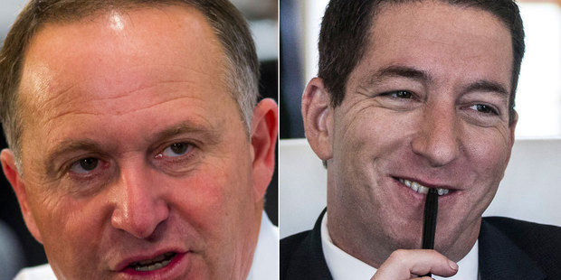 Loading John Key and Glenn Greenwald are refuting each other's claims. Photo / NZ Herald