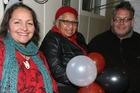 WONDERFUL NIGHT: New Maori Party List MP Marama Fox (left) celebrates at Papawai Marae with mother Frances Reiri-Smith and brother Ra Smith.
